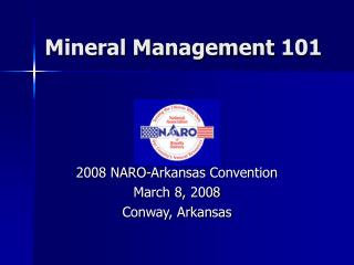 Mineral Management 101