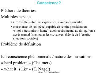 Conscience?