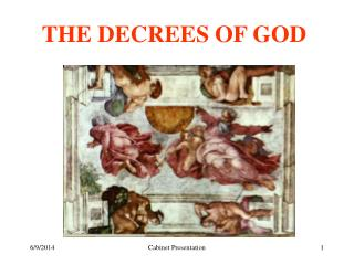 THE DECREES OF GOD