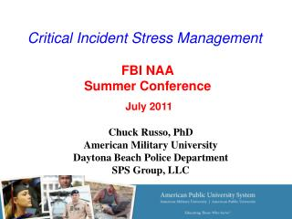 Critical Incident Stress Management