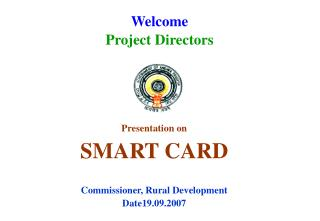 Welcome  Project Directors