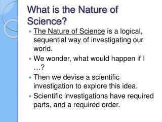 What is the Nature of Science?