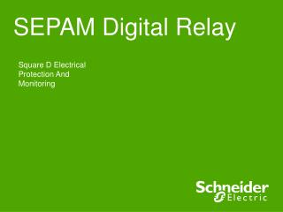 SEPAM Digital Relay