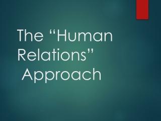 Improving Interpersonal Relationships