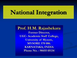 national integration meaning