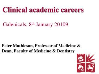 Clinical academic careers