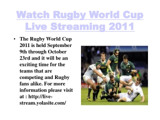 rugby world cup 2011 live stream latest rugby news, highligh