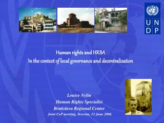 Human rights and HRBA  In the context of local governance and decentralization