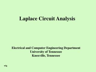 Laplace Circuit Analysis