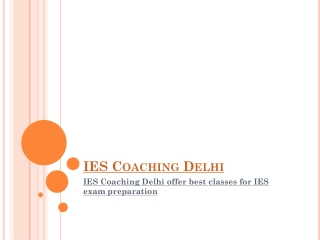 IES Coaching Delhi