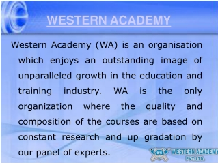 Introduction of Western Academy