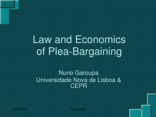 Law and Economics of Plea-Bargaining