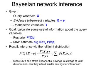 Bayesian network inference