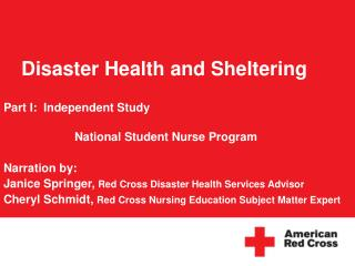 Disaster Health and Sheltering