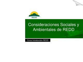 Consideraciones Sociales y Ambientales de REDD