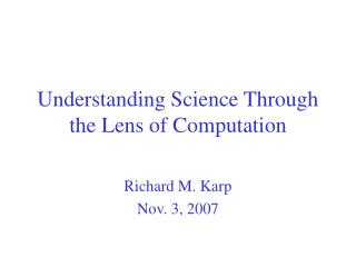 Understanding Science Through the Lens of Computation