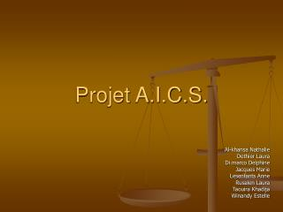 Projet A.I.C.S.