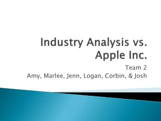 Industry Analysis vs. Apple Inc.