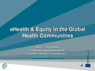 eHealth & Equity in the Global Health Communities