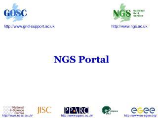 NGS Portal