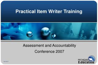 Practical Item Writer Training