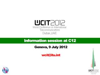 Information session at C12