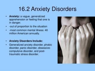 16.2 Anxiety Disorders