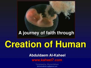 A journey of faith through Creation of Human