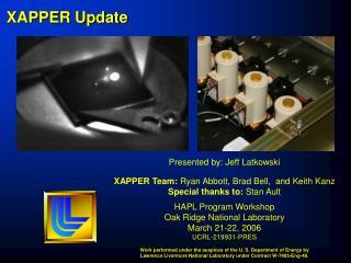 XAPPER Update