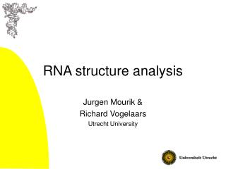 RNA structure analysis