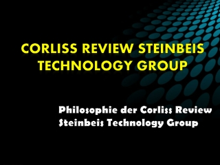 Philosophie der Corliss Review Steinbeis Technology Group