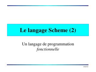 Le langage Scheme (2)