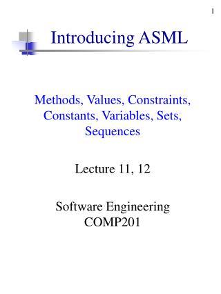 Introducing ASML