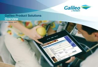 Galileo Product Solutions Overview