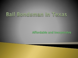 An affordable bail bond agent in Fort Worth Texas