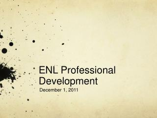 ENL Professional Development