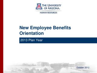New Employee Benefits Orientation