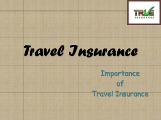 Travel Insurance - Importance Of Travel Insurance