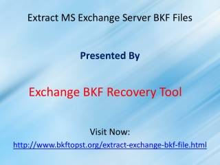 Extract Exchange BKF File