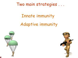 Two main strategies . . .