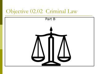 Objective 02.02 Criminal Law