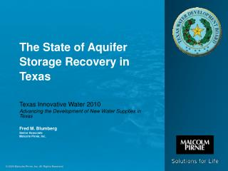 The State of Aquifer Storage Recovery in Texas