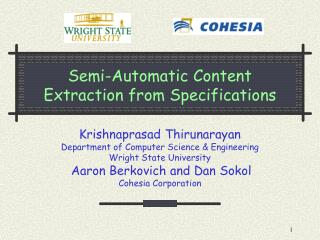 Semi-Automatic Content Extraction from Specifications