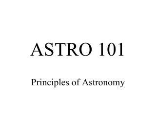 ASTRO 101