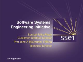 Software Systems Engineering Initiative
