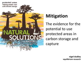 Mitigation The evidence for the potential to use protected areas in carbon storage and capture