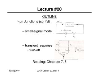 Lecture #20