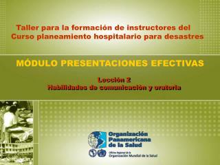 Lección 2 Habilidades de comunicación y oratoria