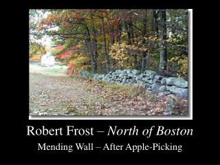 Robert Frost –  North of Boston