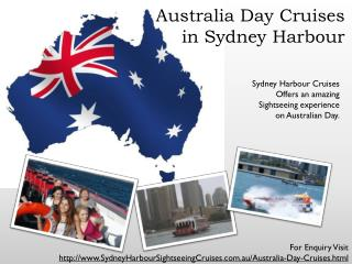 sydney harbour australia day cruises